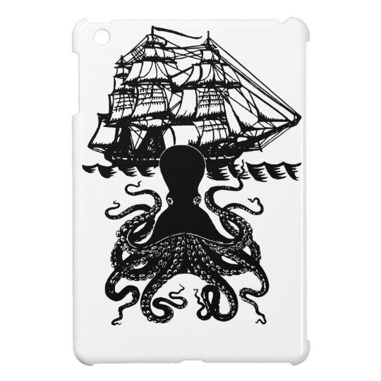 Kraken Attack steampunk pirate iPad mini case