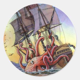 Kraken Attack Sticker