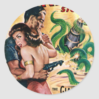 Kraken Attacks Classic Round Sticker