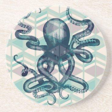 Aztec Themed kraken Aztec vintage Coaster