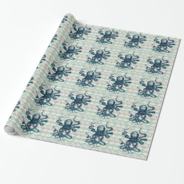 Aztec Themed kraken Aztec vintage Wrapping Paper
