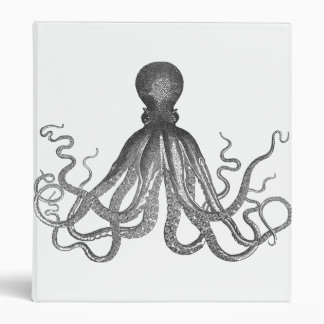 Kraken - Black Giant Octopus / Cthulu Binder