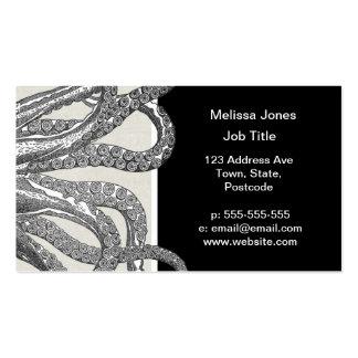 Kraken - Black Giant Octopus / Cthulu Business Card Templates
