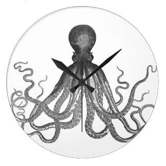 Kraken - Black Giant Octopus / Cthulu Clock