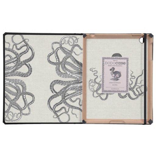 Kraken - Black Giant Octopus / Cthulu iPad Case