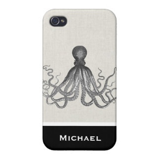 Kraken - Black Giant Octopus / Cthulu iPhone 4/4S Cover