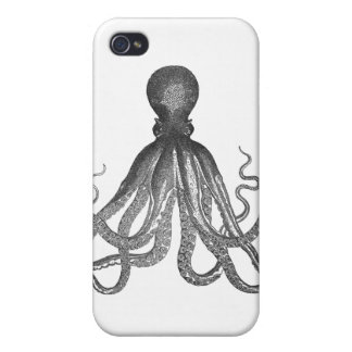 Kraken - Black Giant Octopus / Cthulu iPhone 4/4S Covers