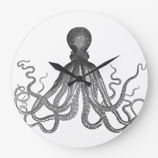 Kraken - Black Giant Octopus / Cthulu Large Clock