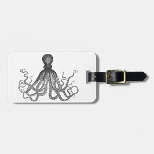 Kraken - Black Giant Octopus / Cthulu Tag For Luggage