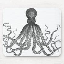 Kraken - Black Giant Octopus / Cthulu Mouse Pad