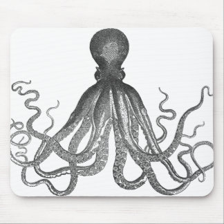 Kraken - Black Giant Octopus / Cthulu Mouse Pad