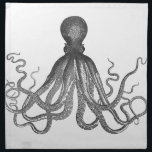 "Kraken - Black Giant Octopus / Cthulu Napkin<br><div class=""desc"">octopus, kraken, &quot;black and white&quot;, black, white, menacing, scary, steampunk, tentacles, squid, creature, sea, underwater, ocean, vintage, victorian, cthulu, Octopi, &quot;steam punk&quot;, &quot;science fiction&quot;, pirate, sailor, industrial, geek, machine, engine, goth, gothic, monster, aquatic, nautical, geeky, retro, monsters, marine, biology, biologist, emo, swirling, swirl, maritime, sailing, fantasy, giant, leagues, deep, drawing,...</div>"