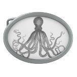 Kraken - Black Giant Octopus / Cthulu Oval Belt Buckle