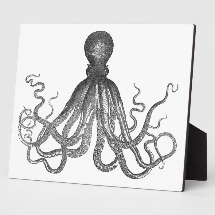 Kraken - Black Giant Octopus / Cthulu Plaque