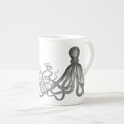 Kraken - Black Giant Octopus / Cthulu Porcelain Mug