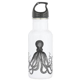 Kraken - Black Giant Octopus / Cthulu Stainless Steel Water Bottle