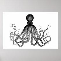 Kraken - Black Giant Octopus (extra large) Poster