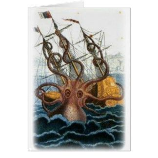Kraken by Pierre Denys de Montfort, 1801 Greeting Card