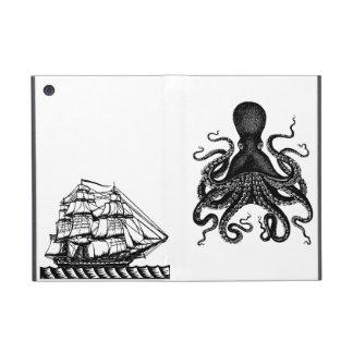 Kraken contra el amor de Steampunk del caso del ip iPad Mini Protectores