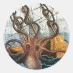 Kraken de Pedro Denys de Montfort, 1801 Etiqueta Redonda
