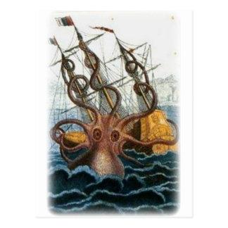 Kraken de Pedro Denys de Montfort, 1801 Postales