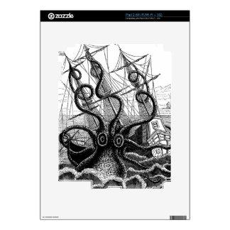 Kraken Eatting a Sailing Ship Skin For The iPad 2