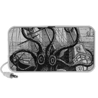 Kraken Eatting a Sailing Ship Portable Speaker