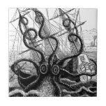 Kraken Eatting a Sailing Ship Tile