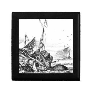 Kraken Eatting un velero Cajas De Regalo