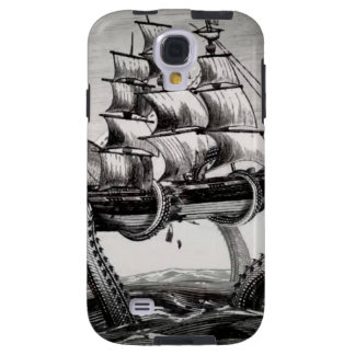 Kraken Holding Pirate/Sail Ship Samsung Galaxy S4 Galaxy S4 Case