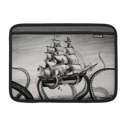 "Kraken Holding Pirate/Sailing Ship 11"" MacBook Air MacBook Sleeve"