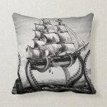 """Kraken Holding Pirate/Sailing Ship 20"""" Pillow"""