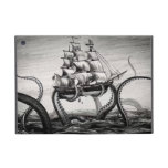 Kraken Holding Pirate/Sailing Ship iPad Mini Folio Covers For iPad Mini