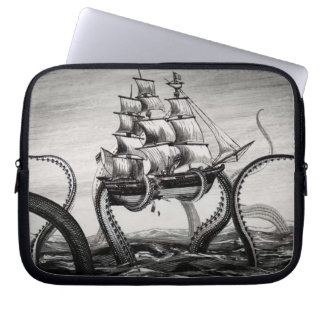 "Kraken Holding Up A Pirate/Sailing Ship 10"" Sleeve Laptop Computer Sleeves"