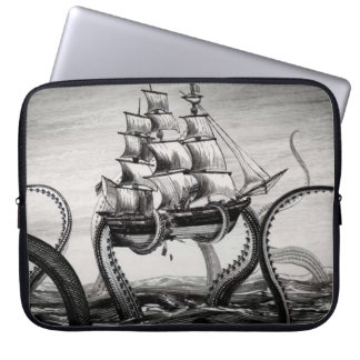 "Kraken Holding Up A Pirate/Sailing Ship 15"" Sleeve"