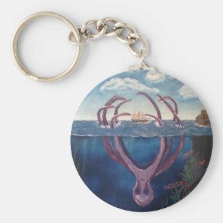 kraken.jpg basic round button keychain