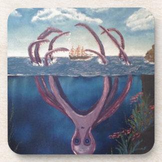 kraken.jpg beverage coaster