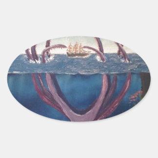 kraken.jpg oval sticker