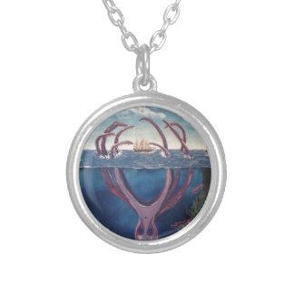 kraken.jpg round pendant necklace
