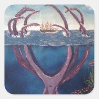 kraken.jpg square sticker