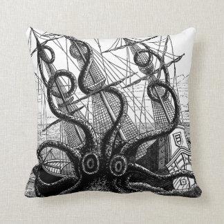 "Kraken/Octopus Eatting A Pirate Ship, 20"" Pillow"