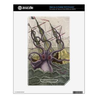 Kraken/Octopus Eatting A Pirate Ship, Color Skins For The NOOK Color