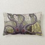 Kraken/Octopus Eatting A Pirate Ship Lumbar Pillow