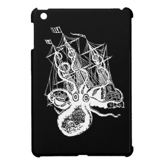 Kraken Pirate Ship Attack ipad mini case Steampunk