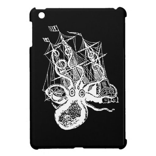 Kraken Pirate Ship Attack ipad mini case Steampunk