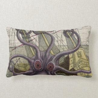 Kraken/pulpo Eatting una almohada del Lumbar del b