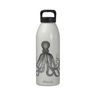 Kraken - pulpo gigante negro/Cthulu Botellas De Beber