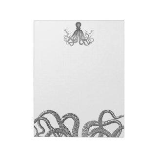 Kraken - pulpo gigante negro/Cthulu Libretas Para Notas