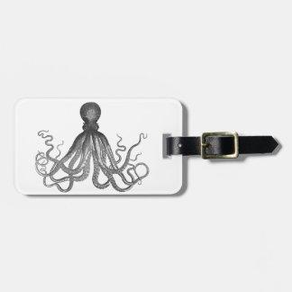 Kraken - pulpo gigante negro/Cthulu Etiqueta De Maleta