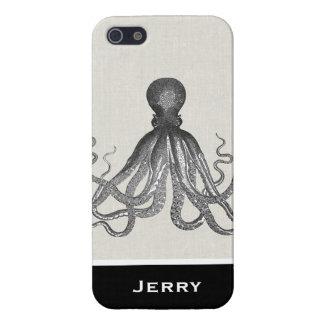 Kraken - pulpo gigante negro/Cthulu iPhone 5 Carcasa